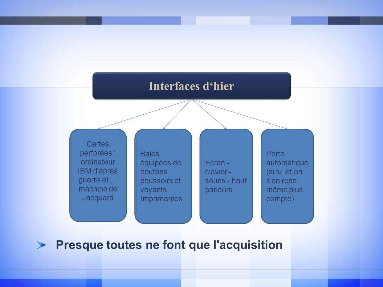 Interfaces dhier Cartes perforées : ordinateur IBM d aprés guerre et...