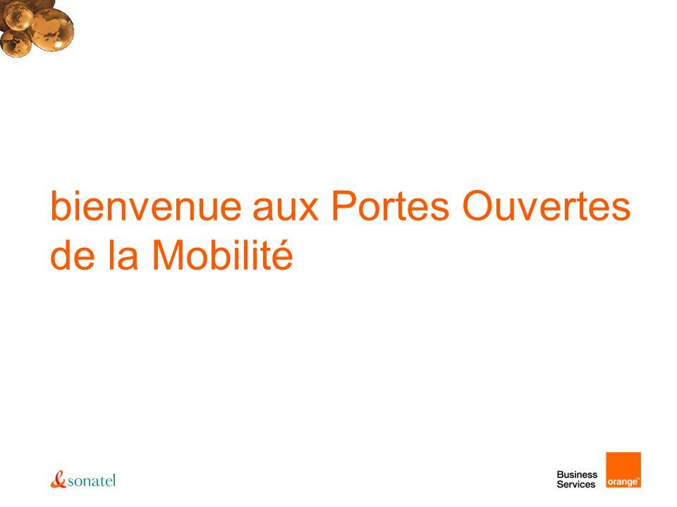 toujours plus loin avec Orange… GPRS dans toutes les régions du Sénégal (plus de 80% couverture) EDGE sur tout le territoire 3G+ en phase dexpérimentation sur Dakar Options sans frontières avec plus de 200 opérateurs pour le roaming voix roaming GPRS avec plusieurs pays dont la France, la Côte dIvoire, le Mali.