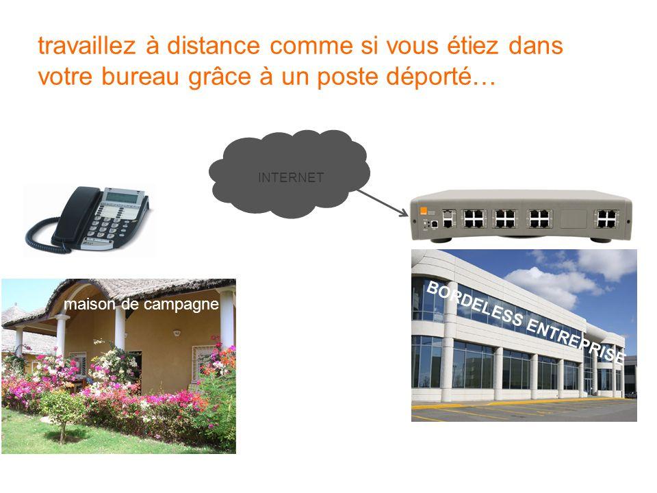 BORDELESS ENTREPRISE maison de campagne travaillez à distance comme si vous étiez dans votre bureau grâce à un poste déporté… INTERNET