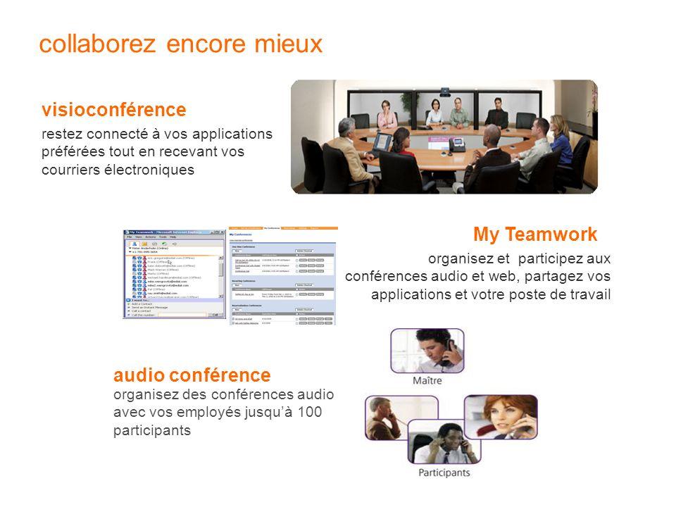 collaborez encore mieux visioconférence restez connecté à vos applications préférées tout en recevant vos courriers électroniques My Teamwork organise