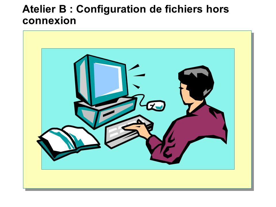 Atelier B : Configuration de fichiers hors connexion