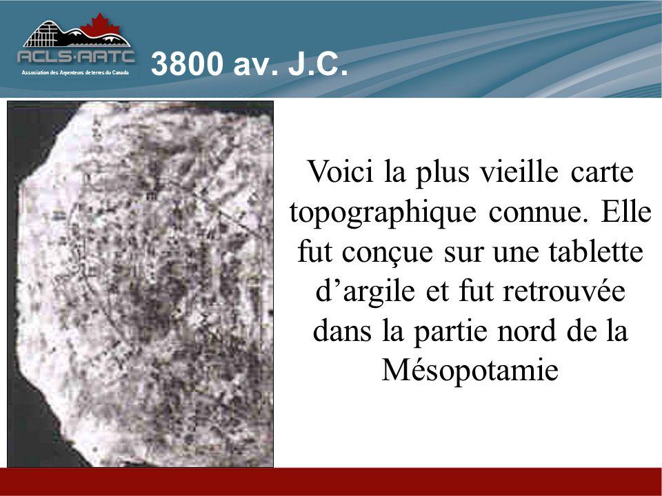 Association des Arpenteurs de terres du Canada Plan cadastral - Mésopotamie - 1700 av. J.-C.