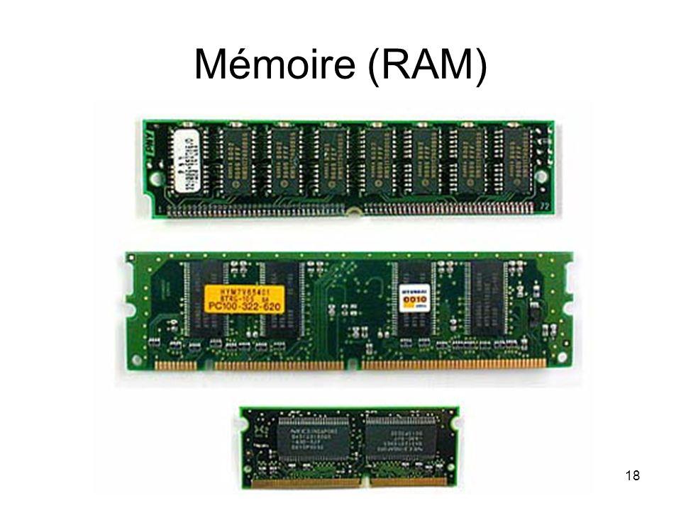 Mémoire (RAM) 18