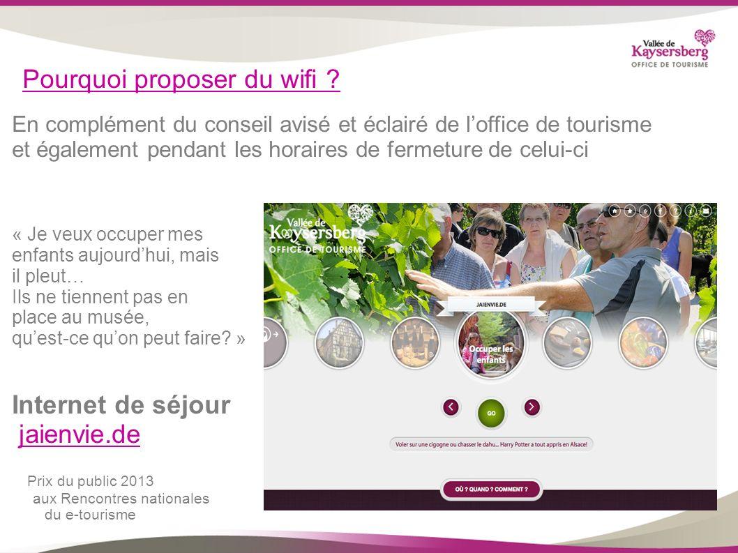 Pourquoi proposer du wifi ? En complément du conseil avisé et éclairé de loffice de tourisme et également pendant les horaires de fermeture de celui-c
