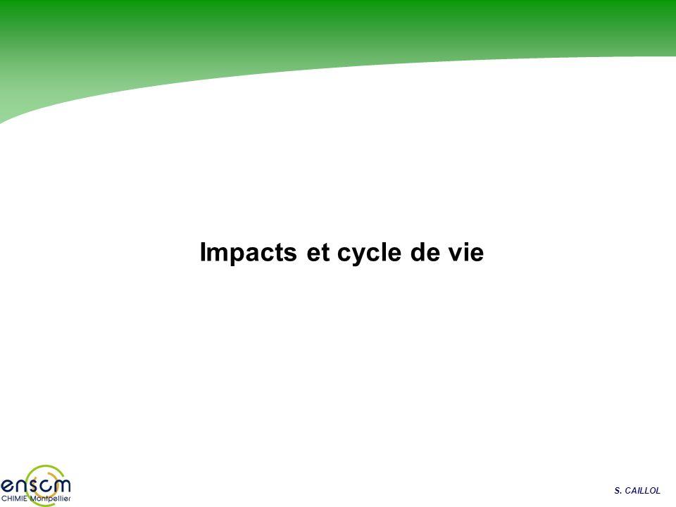 S. CAILLOL Impacts et cycle de vie