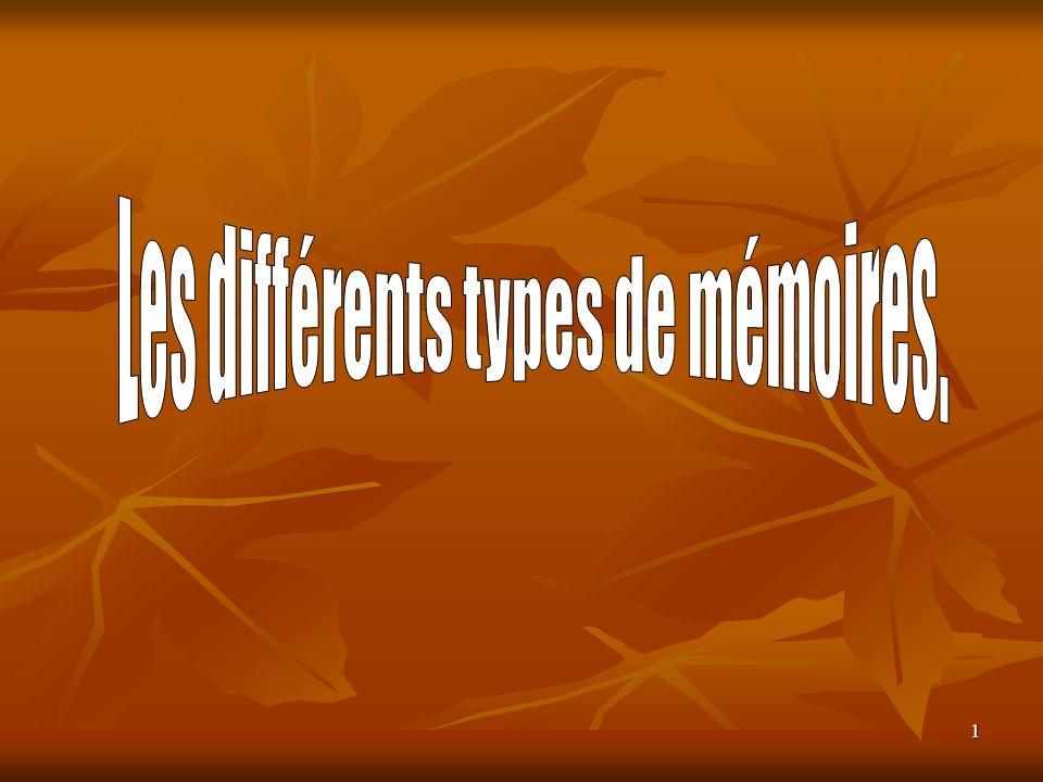 22 Les barrettes DIMM Les barrettes DIMM (Dual InLine Memory Module) sont désormais supportées par la plupart des PC récents.