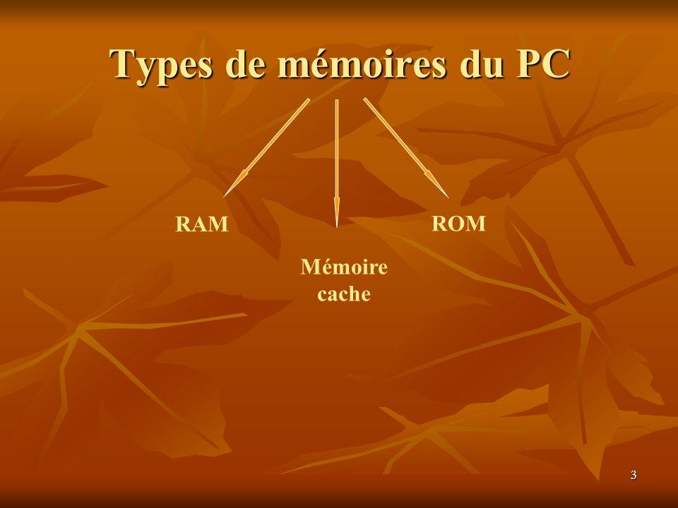 14 3) RAMBUS ou ( RDRAM) : à été conçu pour Intel, spécifiquement pour une utilisation conjointe avec le P4.