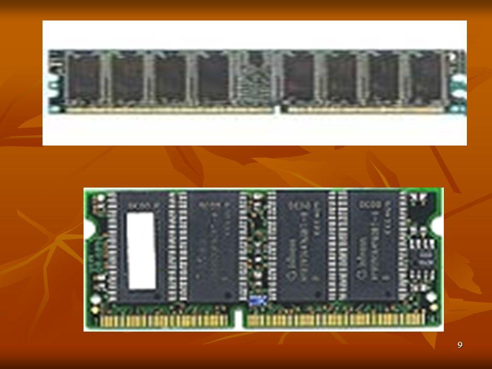 20 Les barrettes SIMM 8bits / 30 pins La mémoire SIMM (Single In Line Memory Module) de 8 bits se présente sous la forme d une barrette d environ 8.5 cm de long, sur laquelle sont fixés des composants électroniques.