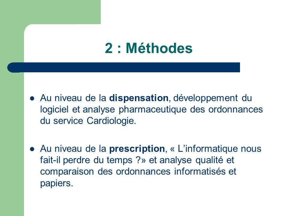 III : Études 1:Dispensation2:Prescriptions