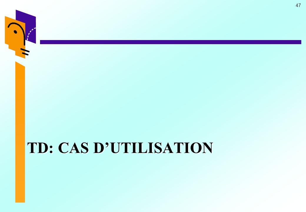 47 TD: CAS DUTILISATION