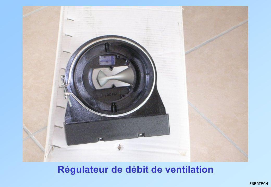 Régulateur de débit de ventilation ENERTECH
