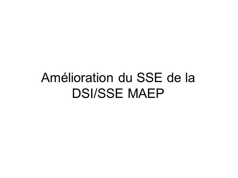 Amélioration du SSE de la DSI/SSE MAEP