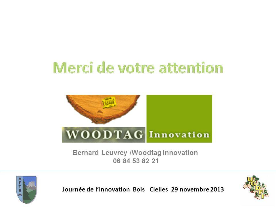 Journée de lInnovation Bois Clelles 29 novembre 2013 Bernard Leuvrey /Woodtag Innovation 06 84 53 82 21