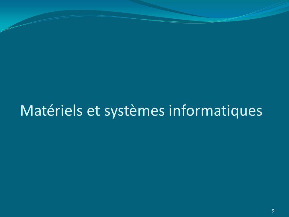 Matériels et systèmes informatiques 9