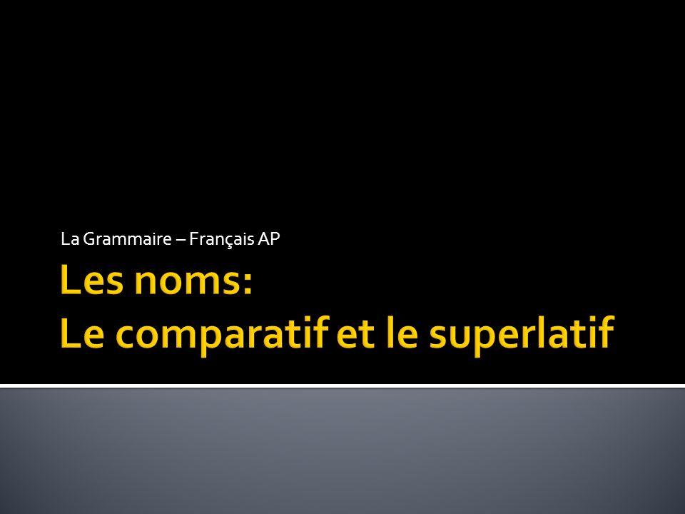 La Grammaire – Français AP