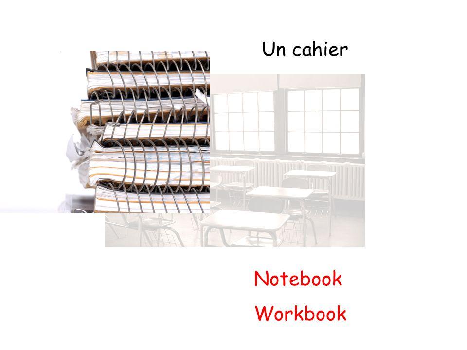 Un cahier Notebook Workbook