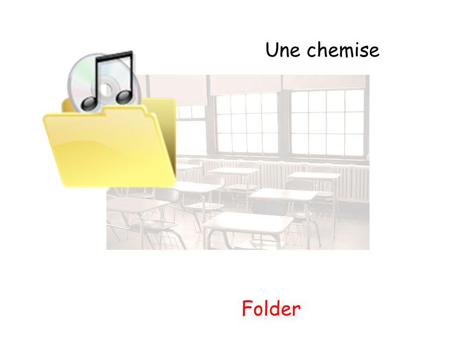 Une chemise Folder