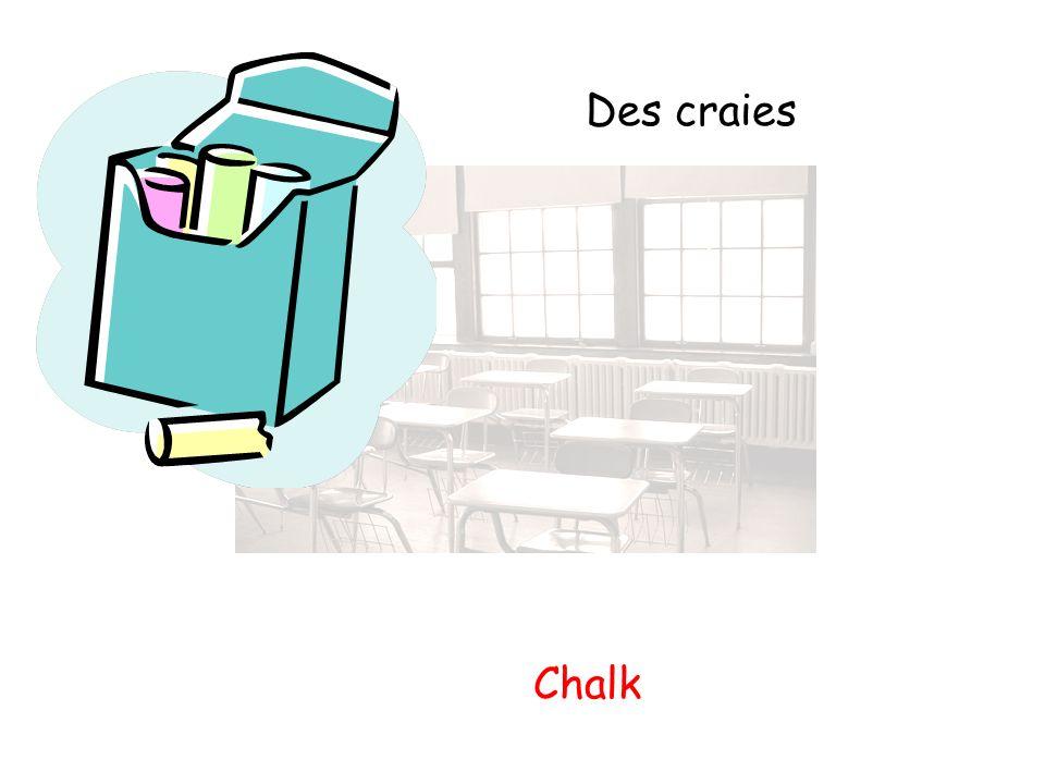 Des craies Chalk