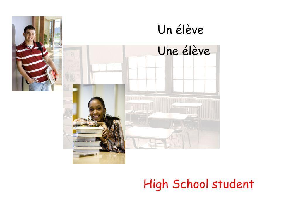 Un élève Une élève High School student