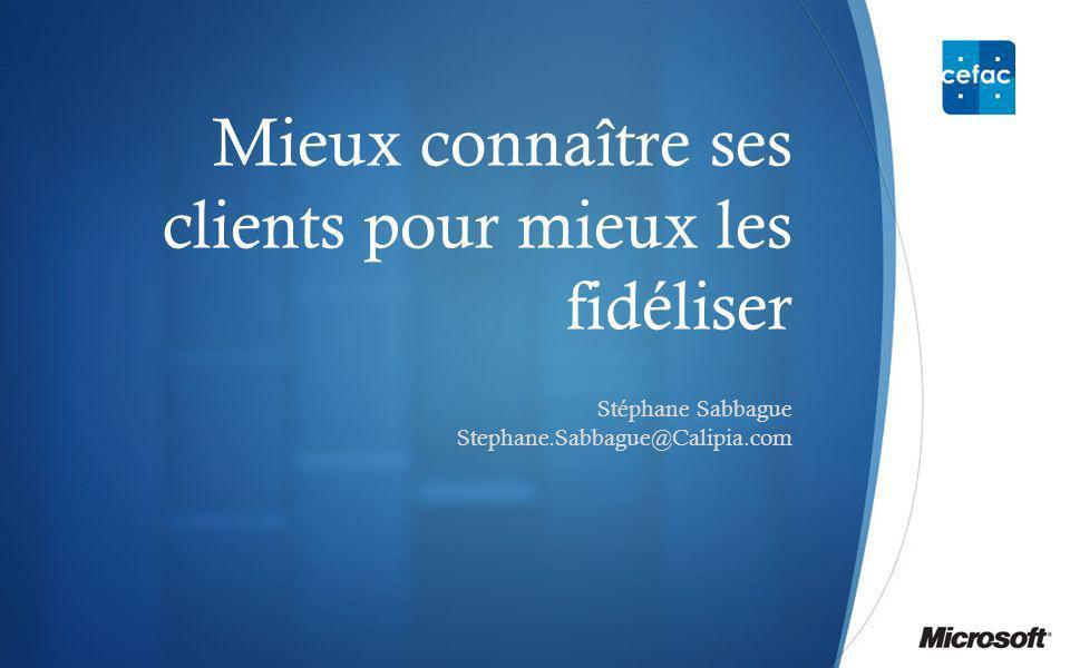 Mieux connaître ses clients pour mieux les fidéliser Stéphane Sabbague Stephane.Sabbague@Calipia.com