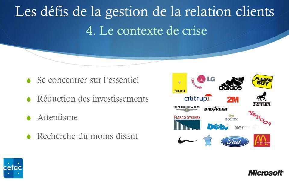Les défis de la gestion de la relation clients 4.