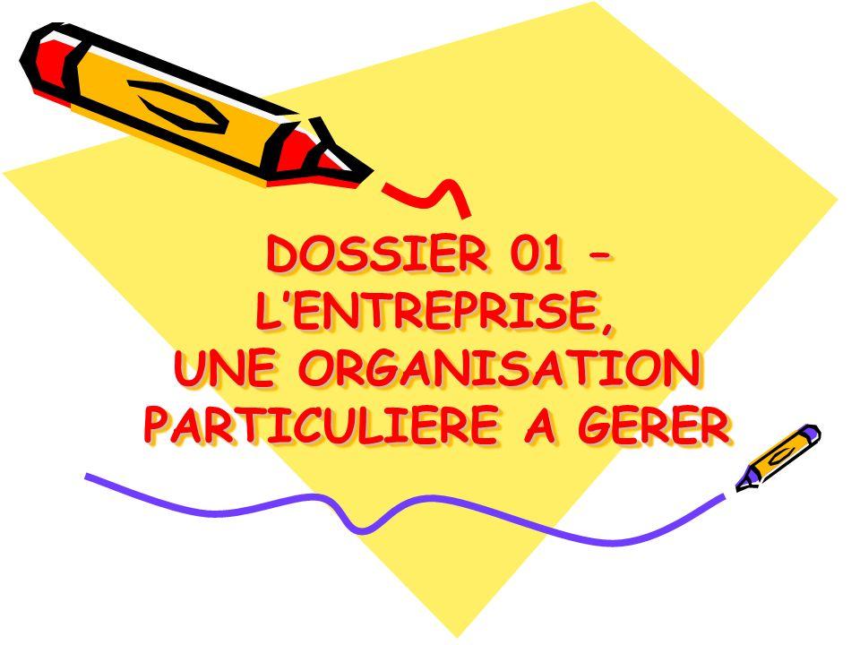 DOSSIER 01 DOSSIER 01 Problématique
