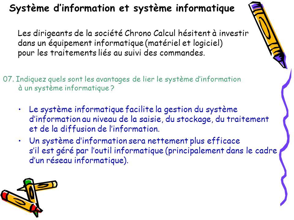 Système dinformation et système informatique 07.