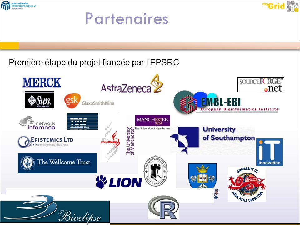 Partenaires Première étape du projet fiancée par lEPSRC