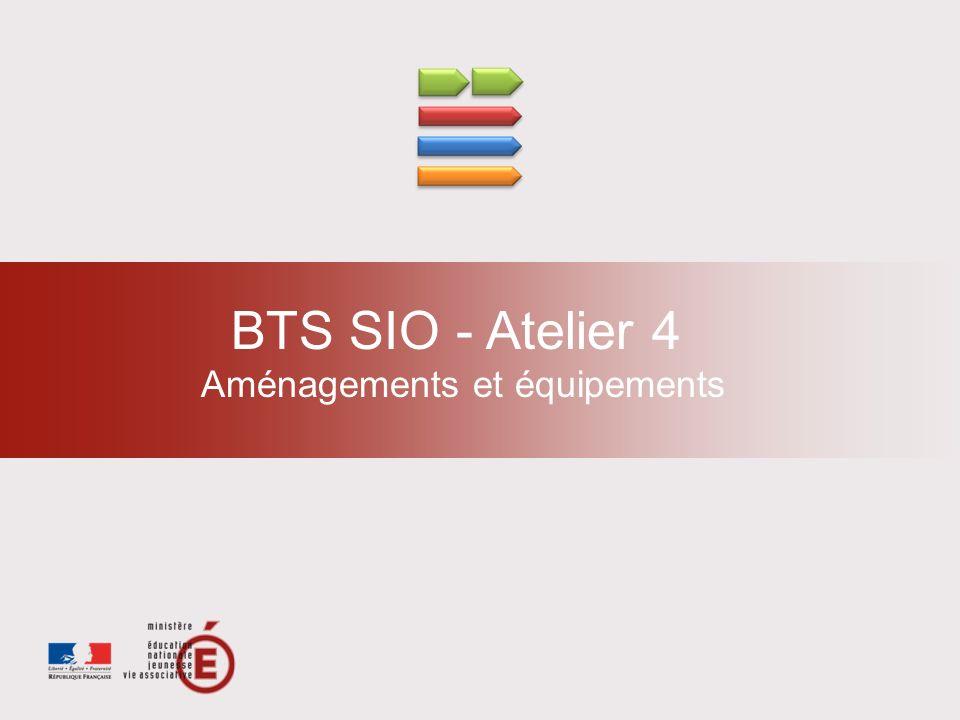BTS SIO - Atelier 4 Aménagements et équipements