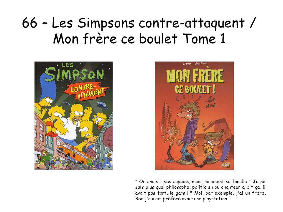 66 – Les Simpsons contre-attaquent / Mon frère ce boulet Tome 1