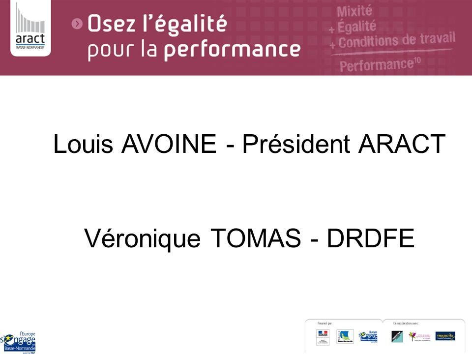 Louis AVOINE - Président ARACT Véronique TOMAS - DRDFE