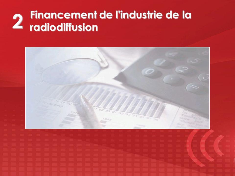Financement de l'industrie de la radiodiffusion 2