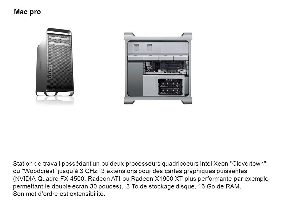 Station de travail possédant un ou deux processeurs quadricoeurs Intel Xeon