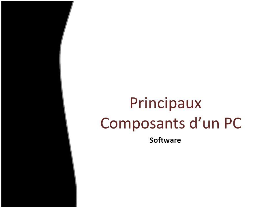Principaux Composants dun PC Software