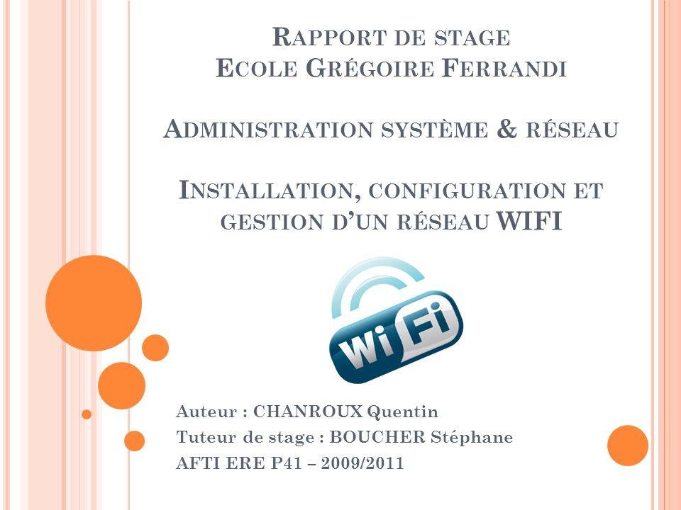 III/ LES DIFFÉRENTES ÉTAPES DU PROJET Attributions et créations de nouveaux VLAN VLAN 183 : VLAN de gestion des équipements.