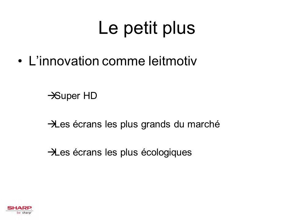 Le petit plus Linnovation comme leitmotiv Super HD Les écrans les plus grands du marché Les écrans les plus écologiques