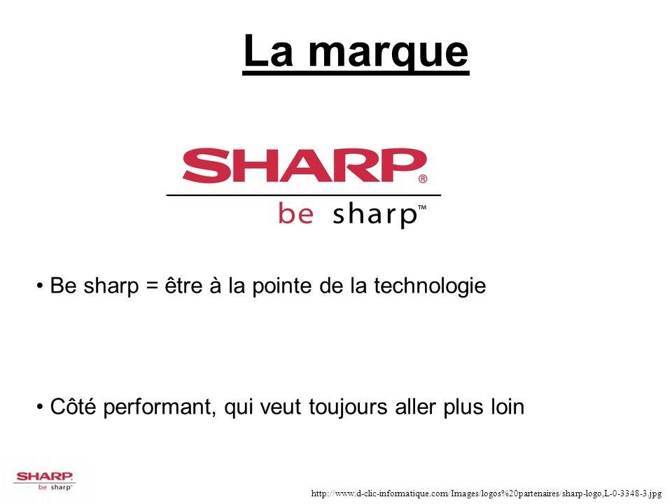 Be sharp = être à la pointe de la technologie Côté performant, qui veut toujours aller plus loin http://www.d-clic-informatique.com/Images/logos%20par