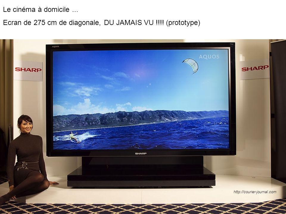 Le cinéma à domicile... Ecran de 275 cm de diagonale, DU JAMAIS VU !!!! (prototype) http://courier-journal.com