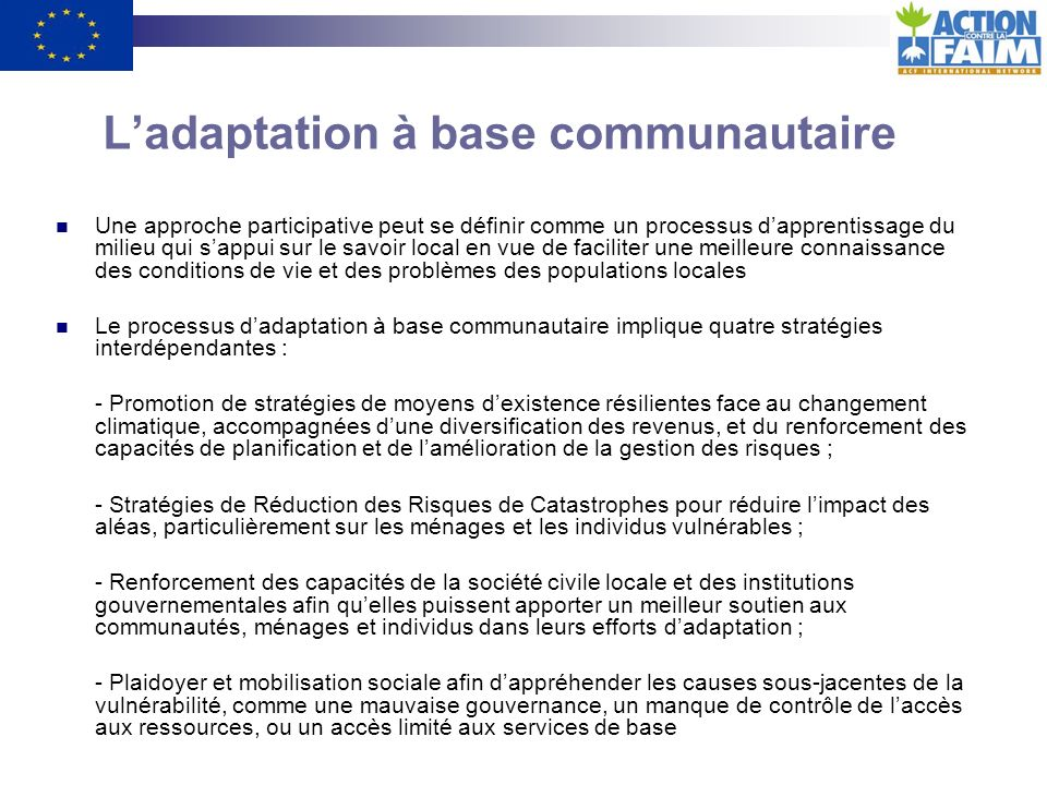 Quelle est la différence entre « adaptation » et « ajustement » ?