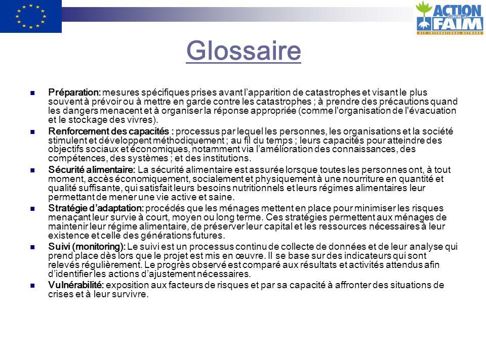 Glossaire Approche participative: Développement dune analyse de la situation en impliquant les populations elles-mêmes.