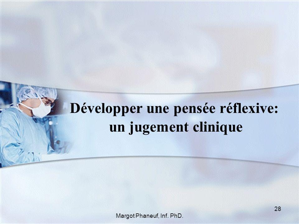 Développer une pensée réflexive: un jugement clinique 28 Margot Phaneuf, Inf. PhD.