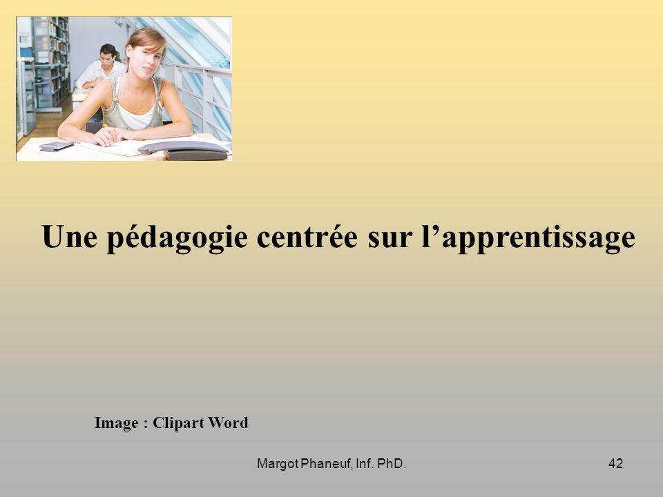 Une pédagogie centrée sur lapprentissage Image : Clipart Word 42Margot Phaneuf, Inf. PhD.