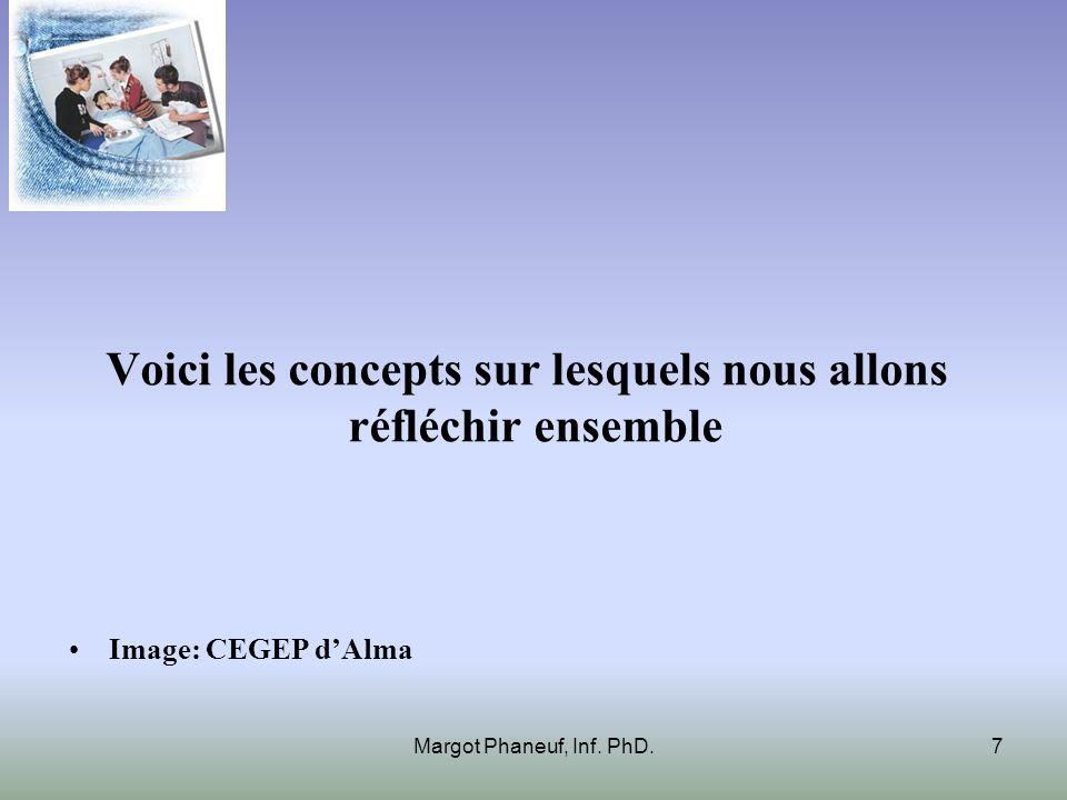Voici les concepts sur lesquels nous allons réfléchir ensemble Image: CEGEP dAlma Margot Phaneuf, Inf. PhD.7