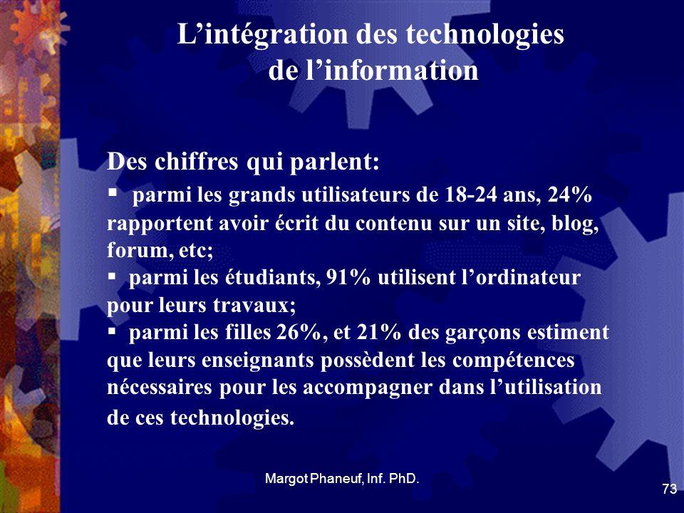 Lintégration des technologies de linformation Des chiffres qui parlent: parmi les grands utilisateurs de 18-24 ans, 24% rapportent avoir écrit du cont