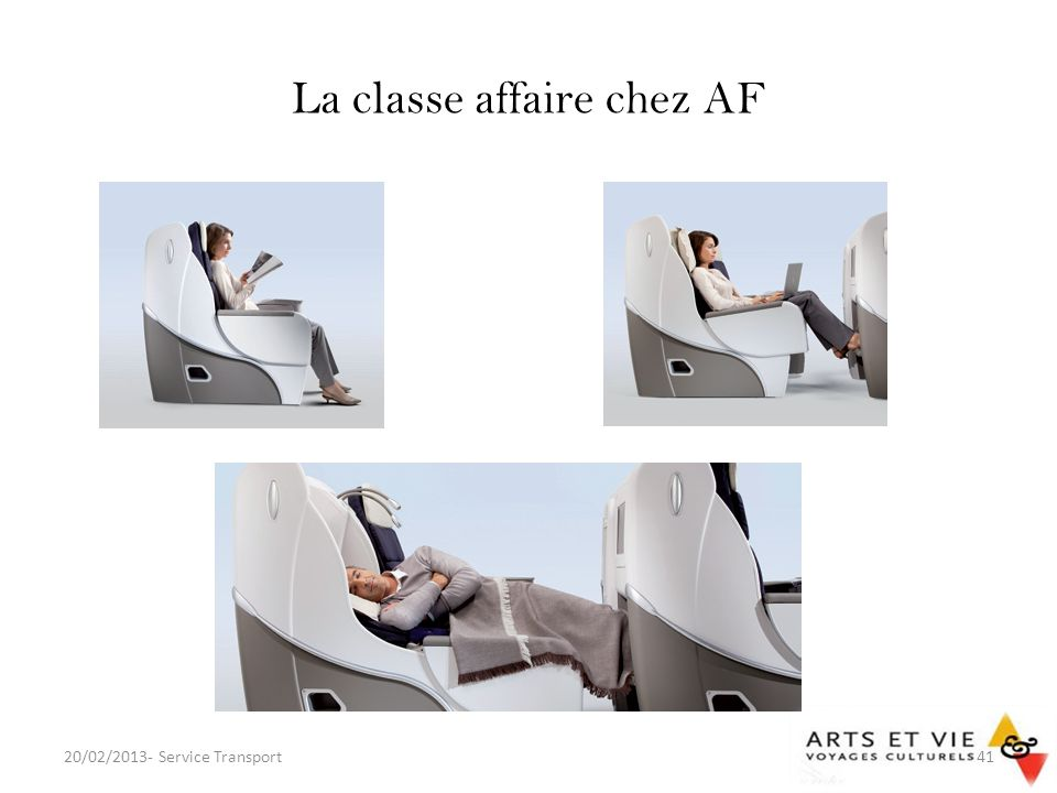 La classe affaire chez AF 20/02/2013- Service Transport41