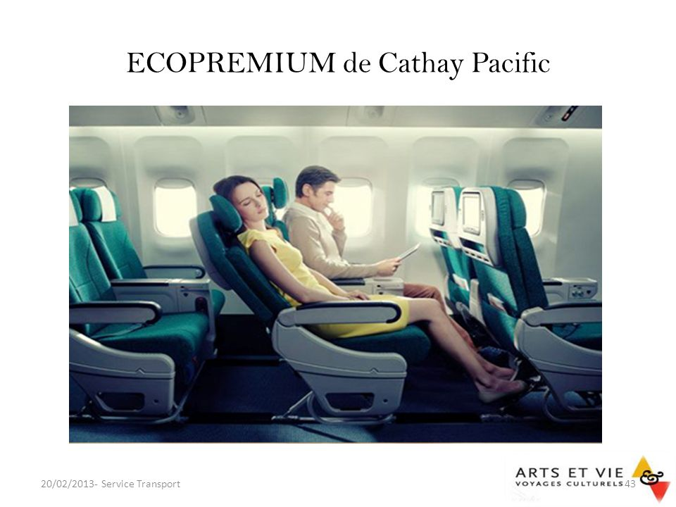 ECOPREMIUM de Cathay Pacific 20/02/2013- Service Transport43