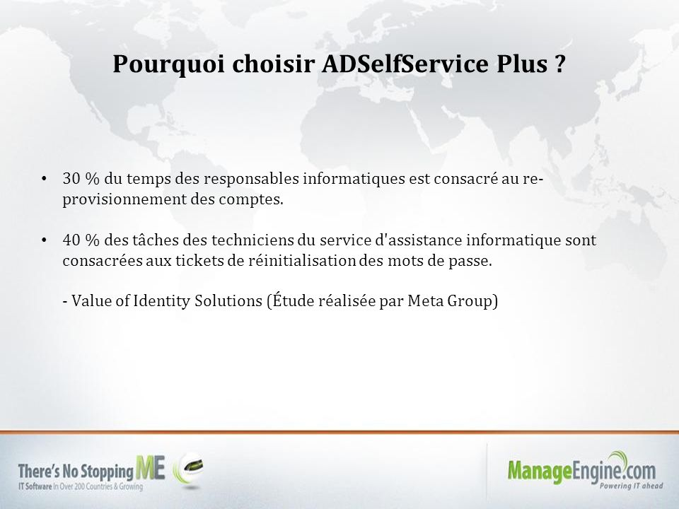 Pourquoi choisir ADSelfService Plus .