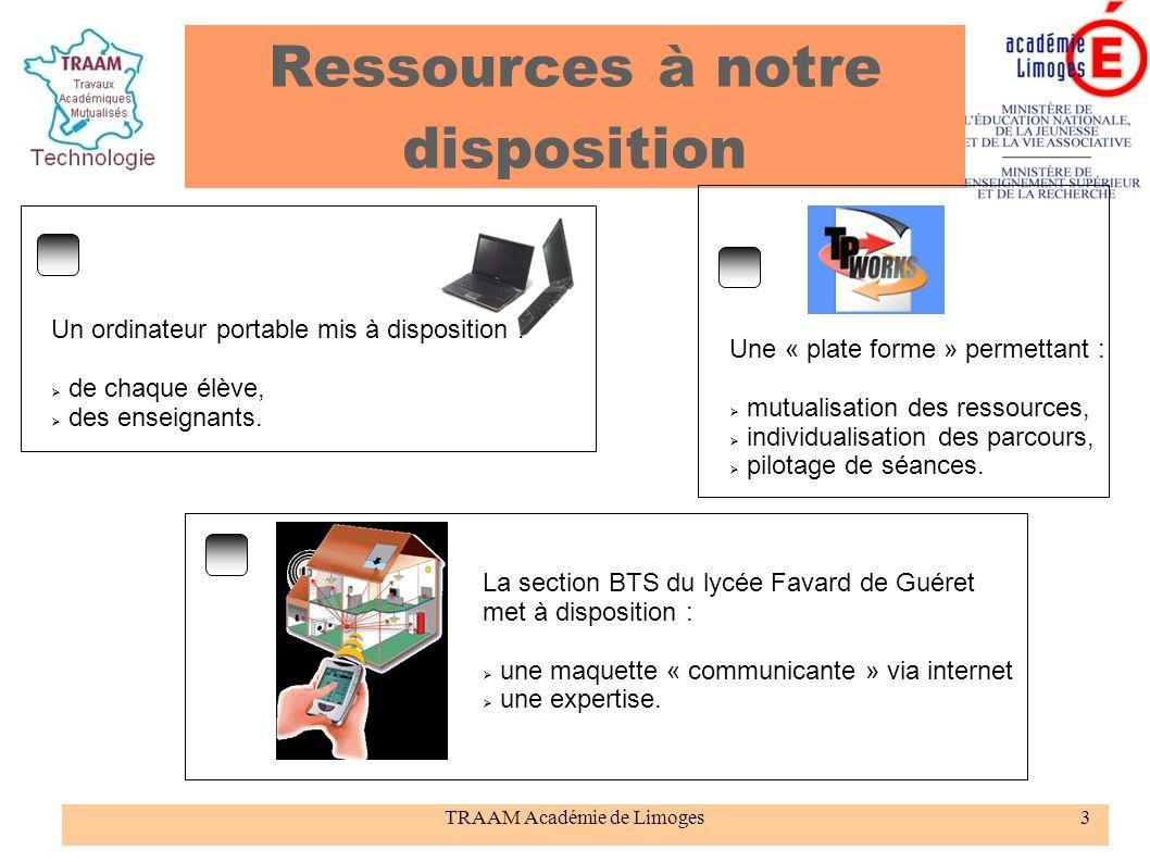 TRAAM Académie de Limoges24 « Ordicollège » met à disposition un ordinateur par : enseignant, élève.