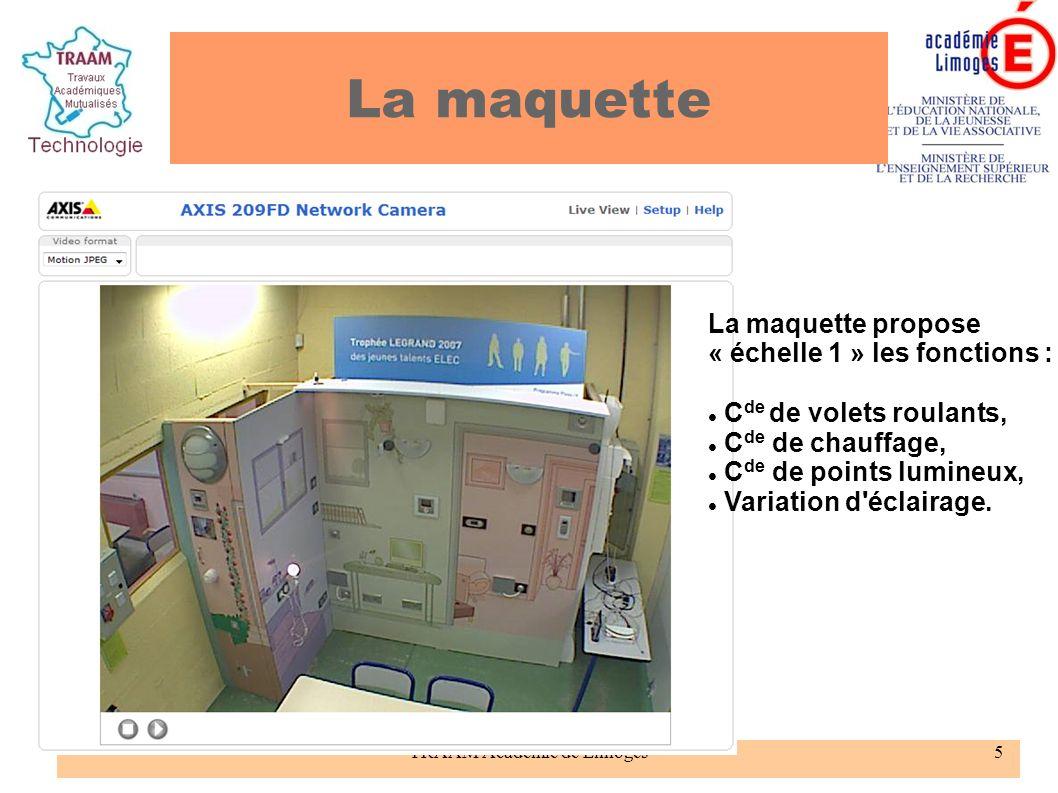 TRAAM Académie de Limoges6 Interface Omizzy pour piloter la maquette à distance