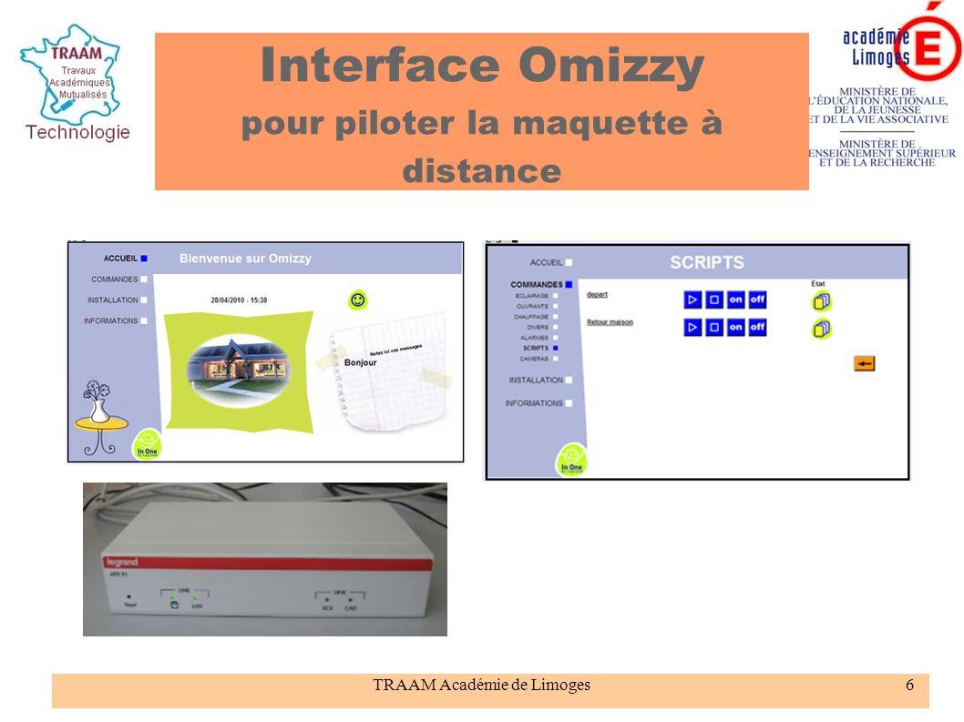 TRAAM Académie de Limoges7 Le centre d intérêt : comment gérer le confort dans une résidence distante .